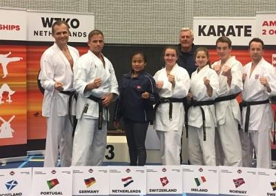Forstørrer bilde av Medaljevinnere WTKO European Championship